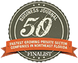 Badge 50 fastest growing companies